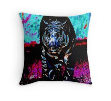 Colourful Tiger Throw Pillow