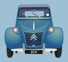 Citroën 2CV Blue (with gradients) Kids Clothes