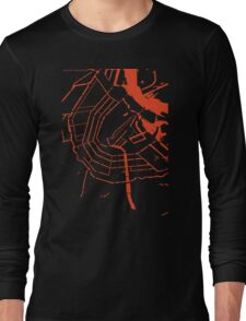 Amsterdam city map classic Long Sleeve T-Shirt