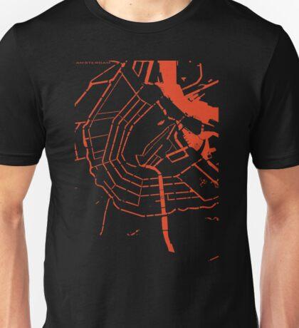 Amsterdam city map classic Unisex T-Shirt