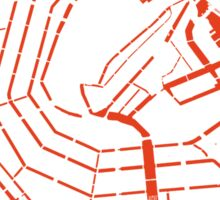 Amsterdam city map classic Sticker
