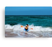 Only to overcome the wave Canvas Print