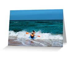 Only to overcome the wave Greeting Card