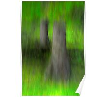 trees in green Poster