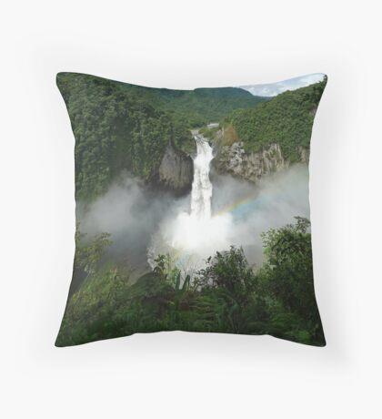 San Rafael Falls - Ecuador Throw Pillow