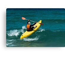 I will win the wave Canvas Print