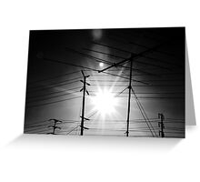Antennas and Telephone Poles Greeting Card