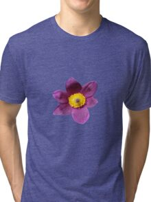 Purple Flower Tee Shirt Tri-blend T-Shirt