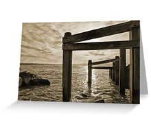 """Barrier"" - Shore defence at Hurst Castle Hampshire Greeting Card"