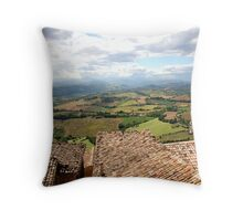 Rooftops and countryside Throw Pillow
