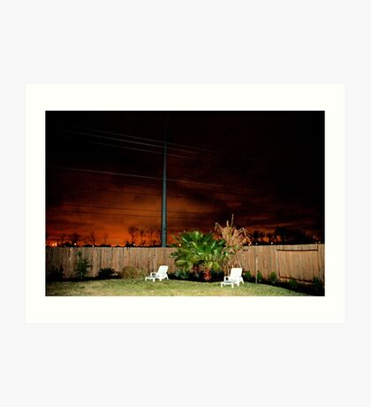 A Suburban Backyard Art Print