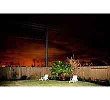 A Suburban Backyard Photographic Print