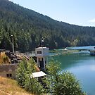 Lake Mills and Glines Canyon Dam by Stacey Lynn Payne