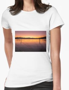 Colourful sunset at Lake Moogerah in Queensland Womens Fitted T-Shirt