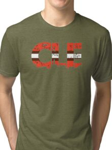 """Cleveland, Ohio """"CLE"""" Browns Shirts, Stickers, Mugs, More Tri-blend T-Shirt"""