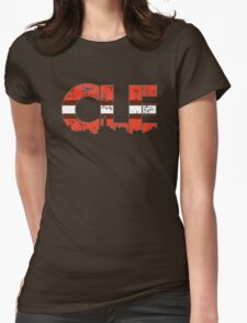 "Cleveland, Ohio ""CLE"" Browns Shirts, Stickers, Mugs, More Womens Fitted T-Shirt"