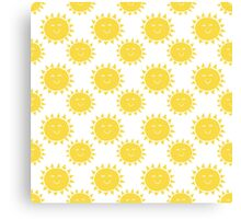 A Day at The Seaside - Bright Yellow Sunshine Canvas Print