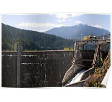 Glines Canyon Dam, Elwha River, Olympic National Park, Washington Poster