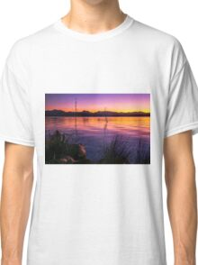 Colourful sunset at Lake Moogerah in Queensland Classic T-Shirt