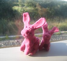 Rabbits on a train II by 123picaparet