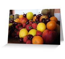 Future Fruit Salad Greeting Card