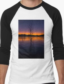 Colourful sunset at Lake Moogerah in Queensland Men's Baseball ¾ T-Shirt