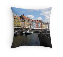 Nyhavn Harbour, Copenhagen Throw Pillow