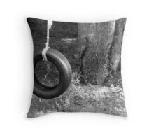 Tire swing in the cherry tree  Throw Pillow