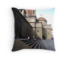 Street Scene in Florence Throw Pillow