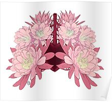 Flowers as lungs Poster