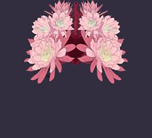 Flowers as lungs Womens Fitted T-Shirt
