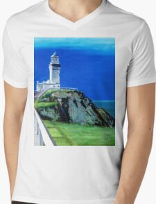 Byron Bay Mens V-Neck T-Shirt