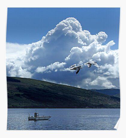 Flight Over Loch Fyne Poster