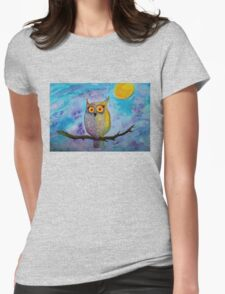 Night Owl Womens Fitted T-Shirt