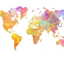 World Map Pastel by JBJart