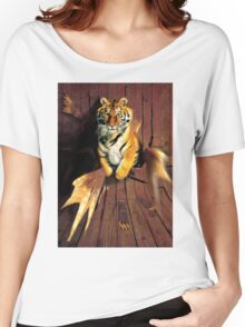 Tiger Wreckage Women's Relaxed Fit T-Shirt