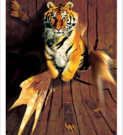 Tiger Wreckage Sticker