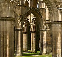 Arches at Rievaulx Abbey by Chas Bedford