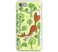 Fox in the summer forest iPhone Case/Skin