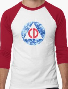 Civil Defense Emblem Men's Baseball ¾ T-Shirt