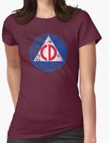 Civil Defense Emblem Womens Fitted T-Shirt
