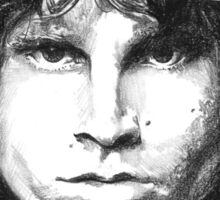Sketch of Jim Morrison THE LIZARD KING Sticker