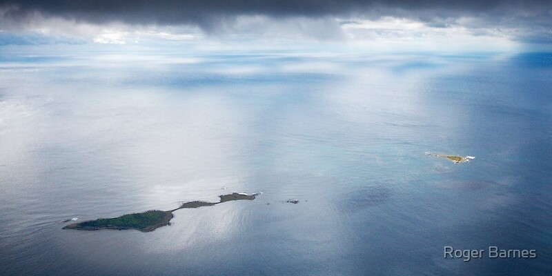 Aerial View of Actaeon Island, Tasmania by Roger Barnes