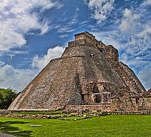 Pyramid of the Magician. Uxmal. Yucatan. Mexico by vadim19