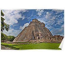 Pyramid of the Magician. Uxmal. Yucatan. Mexico Poster
