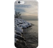 Clearing Snowstorm - Lake Ontario, Toronto, Canada iPhone Case/Skin