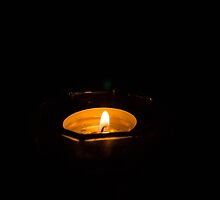 Macro candle flame by hpostant