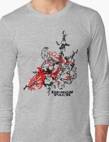 New Dimension Muscle Demon 3D Collage Long Sleeve T-Shirt