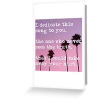 Heartbreak Girl - 5SOS Greeting Card