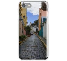 Dazzling Caribbean Colors - a Street in San Juan, Puerto Rico iPhone Case/Skin
